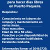 Se busca persona para hacer días libres en Puerto Paquera