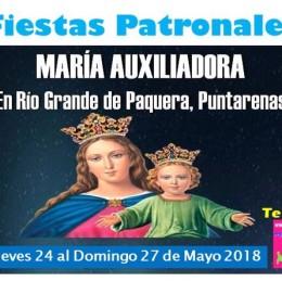 Río Grande de Paquera: Fiesta Patronal María Auxilio de los Cristianos del jueves 24 al domingo 27 de mayo 2018