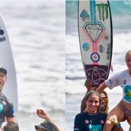Playa Hermosa, Jacó, Puntarenas: Noe Mar McGonagle y Rubiana Brownell ganaron La Gran Final Monster