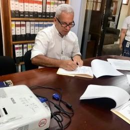Intendente José Francisco Rodríguez Johnson informa que sí se están haciendo gestiones para reconstrucción de puente peatonal Los Almendros, Montaña Grande de Lepanto