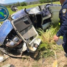 Este viernes 13 de marzo 2020: Seguridad Pública colabora en labores de rescate de avioneta que cayó en finca en San Josecito de Paquera