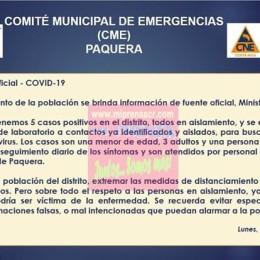 Cuatro más este lunes: Distrito de Paquera suma cinco casos positivos de COVID-19