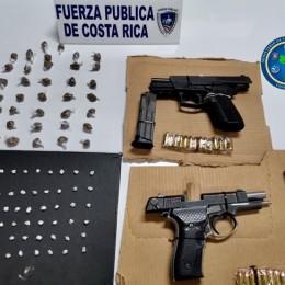 La Trinidad, cantón de Moravia: Fuerza Pública recibe alerta de riña y decomisa armas y drogas