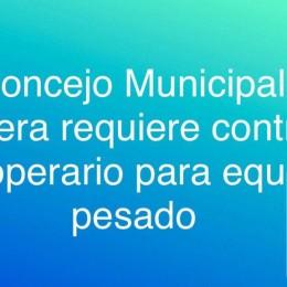 El Concejo Municipal de Paquera requiere contratar operario para equipo pesado