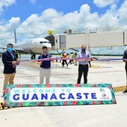 Aerolínea United Airlines: Aeropuerto de Guanacaste reabre con primer vuelo proveniente de Estados Unidos