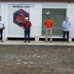 Paquera tendrá una: CNE instala bodegas móviles en varias regiones para atención de emergencias