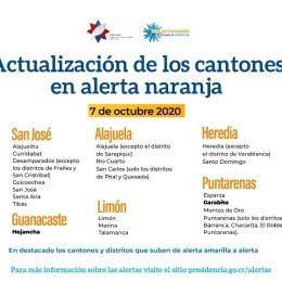 """Garabito en Puntarenas y Hojancha en Guanacaste suben a condición naranja: 71 cantones son parte del modelo de gestión compartida """"Costa Rica trabaja y se cuida"""""""