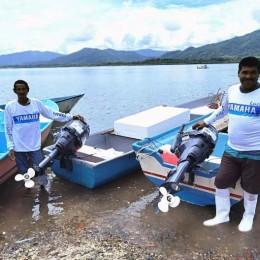 Pescadores de Isla Venado reciben motores fuera de borda: Familias beneficiadas son integrantes de la Asociación Local de Pescadores de Florida