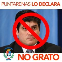 Concejo Municipal de Puntarenas declara No Grato al Presidente de la República Carlos Alvarado