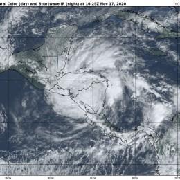 Aunque IOTA se debilita lluvias persistirán pero con menor intensidad: CNE solicita no bajar la guardia ya que hay mucha vulnerabilidad en los territorios por la saturación de los suelos