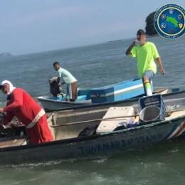 Durante un control de pesca ilegal en el Golfo de Nicoya: Oficiales del Guardacostas tuvieron que repeler ilegítima agresión por parte de pescadores que les lanzaron sus lanchas y varios objetos