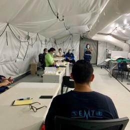 Unidades Médicas Móviles instaladas en el Hospital Monseñor Sanabria de Puntarenas sirven de modelo para ejercicio de simulación