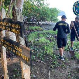 Nandayure, Guanacaste: Guardacostas y vecinos se unieron para limpiar Playa Coyote y conservar la bandera azul ecológica