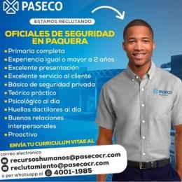 Están reclutando oficiales de seguridad en Paquera