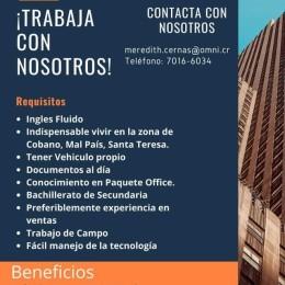Oferta laboral: Cóbano, Mal País y Santa Teresa