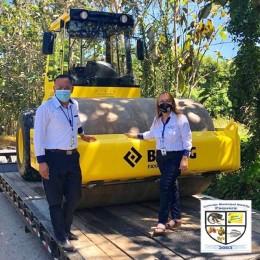 Este lunes 18: Llegó la compactadora nueva adquirida por el Concejo Municipal de Paquera