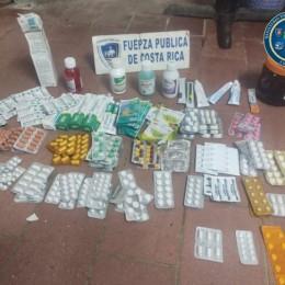 La Cruz, frontera norte: Fuerza Pública intercepta cargamento de más de 600 unidades de medicamentos contrabandeados desde Nicaragua