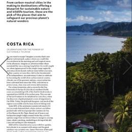 Revista National Geographic Traveller designa a Costa Rica como uno de los destinos más increíbles para viajar y pionero del turismo sostenible