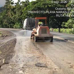 Información importante del proceso de asfaltado de la Ruta 160, trayecto Playa Naranjo – Paquera: Guía técnica para la construcción de una estructura de pavimento