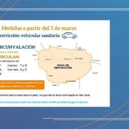 Marzo inicia con nuevas medidas de restricción sanitaria y vehicular: Horario de restricción sanitaria será de 11:00 p.m. a 5:00 a.m., durante toda la semana